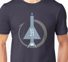 Mig 21 jet fighter Unisex T-Shirt