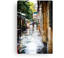 Rainy Streets in Rome Canvas Print