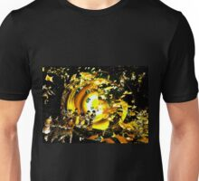 ON THE BEACH in Gold Unisex T-Shirt