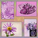 Photo Collage Purple And Pinks by Sandra Foster