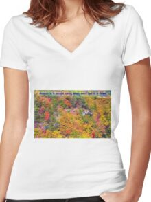 Autumn Flowering Women's Fitted V-Neck T-Shirt