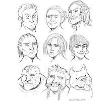 Dragon age Origins companions Photographic Print