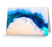 blue vine Greeting Card