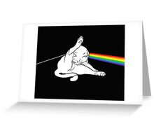 The dark side of the cat Greeting Card