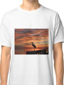 Florida sunset heron Classic T-Shirt