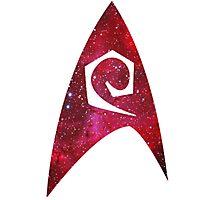starfleet engineering insignia galaxy Photographic Print