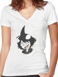 Shark Bully Women's Fitted V-Neck T-Shirt