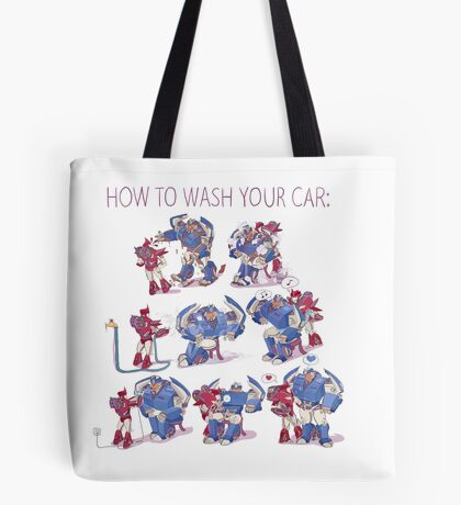 How to wash your car Tote Bag