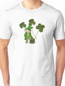 Easy-going Leprechaun with Montreal clovers Unisex T-Shirt