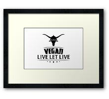 Vegan Live Let Live Framed Print