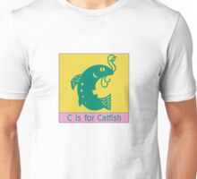 Catfish Animal Alphabet Unisex T-Shirt