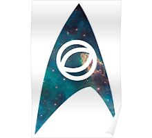 starfleet science insignia galaxy Poster