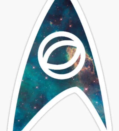starfleet science insignia galaxy Sticker