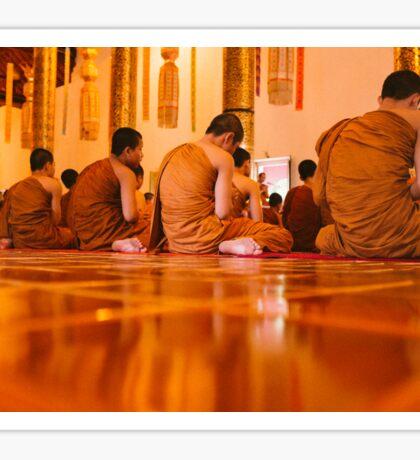 Monks in Thailand  Sticker
