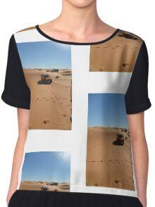Atlas Travel Desert Caravan Tshirt Chiffon Top