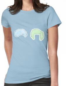 Larry Blue and Green Womens Fitted T-Shirt