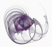Purple Diamond Fractal - Transparent Kids Tee