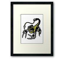 Realer Scorpion Framed Print