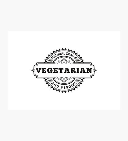 Vegetarian Photographic Print