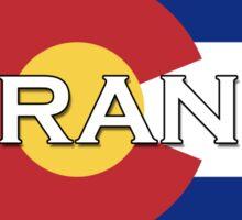 Durango Colorado!  Colorado flag design! Sticker