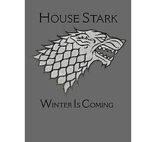 House Stark Direwolf Sigil Photographic Print