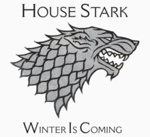House Stark Direwolf Sigil Kids Clothes