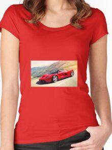 ferrari Women's Fitted Scoop T-Shirt