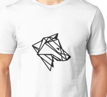 Geometric Wolf Outline Unisex T-Shirt