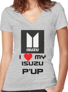 I Love My Pup Women's Fitted V-Neck T-Shirt
