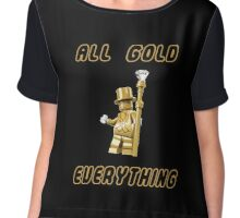 All Gold Everything Chiffon Top
