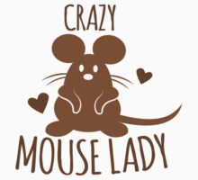 CRAZY Mouse Lady Kids Tee