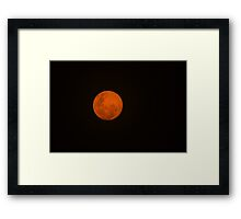 Full Moon - Black Night and Yellow Mystery  Framed Print