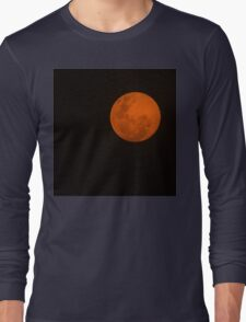 Full Moon - Black Night and Yellow Mystery  Long Sleeve T-Shirt