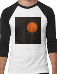 Full Moon - Black Night and Yellow Mystery  Men's Baseball ¾ T-Shirt