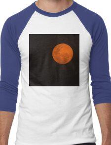 Full Moon - Black Night and Yellow Mystery  Men's Baseball ¾ T-Shirt