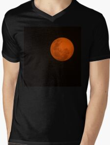 Full Moon - Black Night and Yellow Mystery  Mens V-Neck T-Shirt
