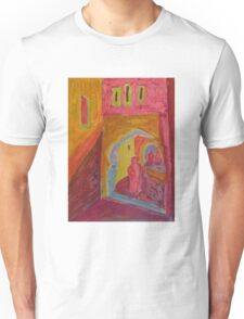 Atlas Travel Desert Caravan 2 village t shirt Unisex T-Shirt