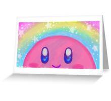 Peekaboo Kirby Greeting Card