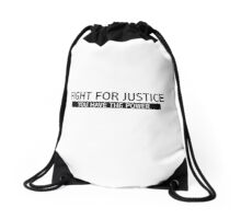 Fight for Justice Drawstring Bag