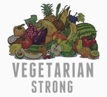 Vegetarian Strong One Piece - Short Sleeve