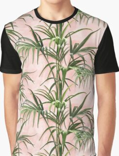 Tropical Plants, pink background Graphic T-Shirt