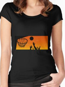 Above the Rim Women's Fitted Scoop T-Shirt