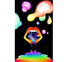 Galaxy Lips + Rainbow Bubbles Photographic Print