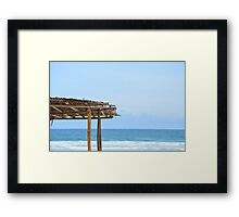 Beach Side in Africa  Framed Print