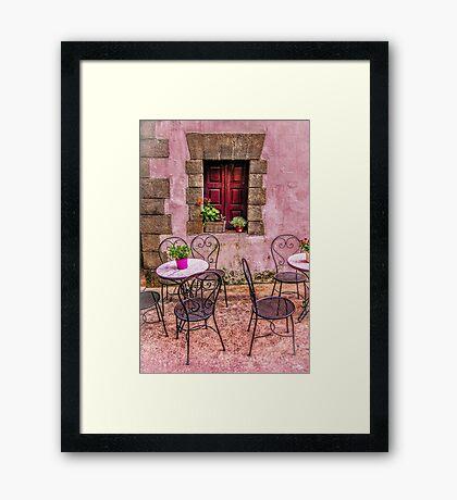Bucolic Window Framed Print