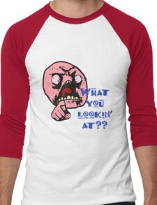 What Are You Looking At Men's Baseball ¾ T-Shirt