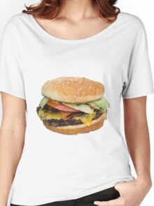 The Real Burger Women's Relaxed Fit T-Shirt