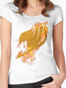 Fairy Tail Logo Natsu Style Women's Fitted Scoop T-Shirt
