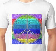 Peace Sign Color Blast Unisex T-Shirt