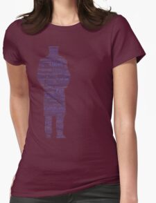 Doctor Who Word Cloud Womens Fitted T-Shirt